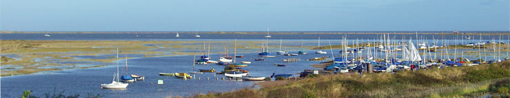 The view over Blakeney Harbour and Estuary from the Balcony